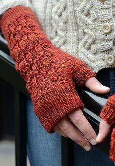 Charlotte St. Mitts knitting pattern, by Glenna C.