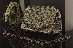 Matoohandmade Bubble crochet bag Crochet Bags, Chanel Boy Bag, Bubbles, Shoulder Bag, Fashion, Crochet Purses, Moda, Fashion Styles, Crochet Clutch Bags