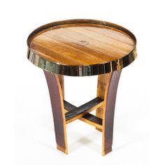 The Zin Side Table elegantly compliments any furniture from the Zin french oak collection. The Zin Table is a true meeting of beauty and function. Wine Barrel Chairs, Wine Barrels, Barrel Rings, Wine Craft, Man Projects, French Oak, Distillery, Whisky, Lazy