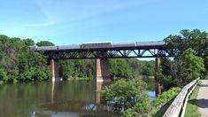 CN 8818 EMD SD70M-2 & BC EMD Rail SD60 Westbound Crossing The Grand Rive...