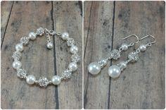 Bridesmaid Jewelry Set | Pearl Bridesmaid Bracelet and Earrings by Amanda Badgley Designs | A Bridal Jewelry Boutique {Bride + Bridesmaid Jewelry}