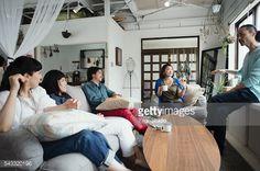 Stock Photo : Fashion designers casual meeting in studio