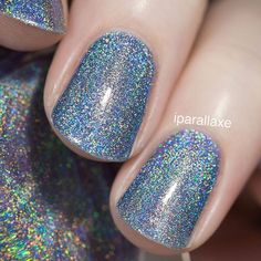Our beautiful Ultra Holo Skyscraper swatched by @iparallaxe!! Available for Pre-Order on ILNP.com! #ILNPSkyscraper
