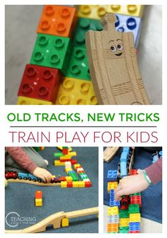 Preschoolers can revive their wooden train tracks after reading Jessica Petersen's new book, Old Tracks, New Tricks!