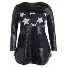 SHARE & Get it FREE   Faux Leather Stars Panel Tunic TopFor Fashion Lovers only:80,000+ Items·FREE SHIPPING Join Dresslily: Get YOUR $50 NOW!