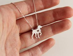 German Shorthaired Pointer necklace sterling by JustPlainSimple
