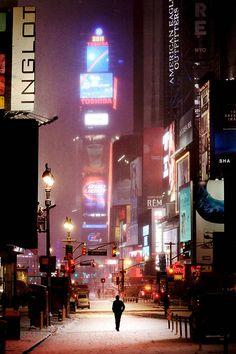 NYC,man on Broadway.Christophe Jacrot