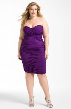 Monif C 'Marilyn' Convertible Jersey Dress (Plus) plus size - love this and all its twists! Looks Plus Size, Plus Size Model, Plus Size Dresses, Plus Size Outfits, Plus Size Fashion For Women, Plus Fashion, Molliges Model, Jersey Fashion, Mode Plus