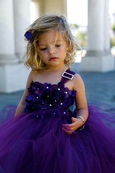 Flower girl LOVE! Tutu with flower bodice, adorable! #wedding @Amanda Snelson Snelson Snelson Newlin mom said you were wanting a purple dress for flower girl(s)?