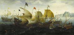 Battle of Cadiz (Dutch and English Ships Attack the Spanish Armada, Aert Anthonisz., 1608