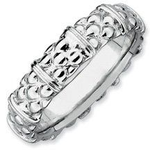 Heavenly Sent Silver Stackable Rhodium Ring Band. Sizes 5-10 Available Jewelry Pot. $22.99. Your item will be shipped the same or next weekday!. 30 Day Money Back Guarantee. 100% Satisfaction Guarantee. Questions? Call 866-923-4446. Fabulous Promotions and Discounts!. All Genuine Diamonds, Gemstones, Materials, and Precious Metals