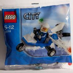 LEGO City Mini Figure Police Plane 30018 Bagged