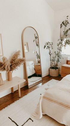 Room Design Bedroom, Room Ideas Bedroom, Home Decor Bedroom, Bedroom Wall, Wood Room Ideas, Beige Walls Bedroom, Mirrored Bedroom, Grey Bedrooms, Beige Room