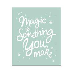 Poster Magic-Mintgroen - Wanddecoratie