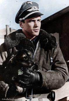 Luftwaffe Major Hans Philipp color photos of World War II worldwartwo.filminspector.com