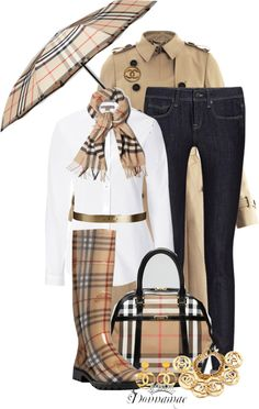 """""""Burberry Plaid and Chanel = Yummy"""" by donnamae-harkness ❤ liked on Polyvore"""