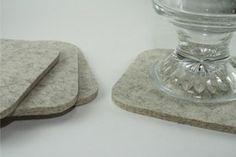 sewing inspiration-Coasters, Felt Coasters