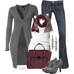 """Long Cardigan"" by michelled2711 on Polyvore"