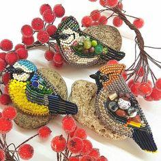 Броши птицы#брошьптица#брошьсиница#брошьлазоревка#брошьсвиристель#брошьснегирь#брошиижевск#украшенияижевск#доброеутро#мода#бижутерия#подарок#embroideryart#bird#handmade#handicraft#broosh#autumn#newyear#nature#waxwing#tit