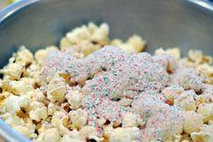 white chocolate & peppermint popcorn