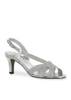 Easy Street Silver Glitter Desi Sandal