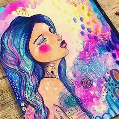 • bird girl • #willowing #willowingarts #mixedmedia #mixedmediaart #artistsofinstagram #tamaralaporte #art #tamfb