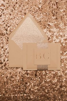 Rose Gold Wedding Invitations, Rose Gold and Sand Monotone Trends, Rose Gold Foil, Rose Gold Glitter, Modern Wedding Invitations, Simple, Blaire Suite, Jupiter and Juno