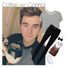 """Coffee w/ Connor"" by strawberry-styles ❤ liked on Polyvore featuring Chicnova Fashion, Ström, Vans, claire's and FOSSIL"