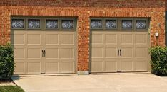 Decorative garage door window inserts