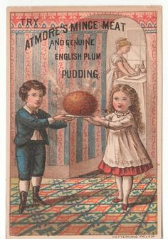 Trade Card for Atmore's Mince Meat and Genuine English Plum Pudding
