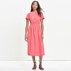 Open-Back Midi Dress : casual dresses | Madewell