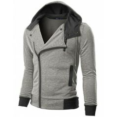 My hunny be looking good in this! $38 Mens Casual Rider Hoodie Jacket (KMH02)