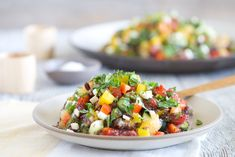 This grilled peach salsa recipe will top any mango salsa. Add cilantro and let the recipe sit in the fridge overnight to meld the flavors. Mexican Food Recipes, Vegetarian Recipes, Cooking Recipes, Healthy Recipes, Snack Recipes, Paleo Food, Mexican Dishes, Chili Recipes, Healthy Foods