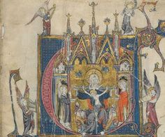 """Arthurian and Other Romances of the 13th Century - Many nice illuminations - borders, letters, miniatures (eg. p. 52, 354, 398). """"This 13th century manuscript, with text in two columns and superbly decorated, is an anthology of romances from the Middle Ages...."""""""
