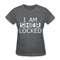 I am Sher-locked Sherlock Holmes BBC T-shirt S, M, L, XL, XXL. $22.00, via Etsy.