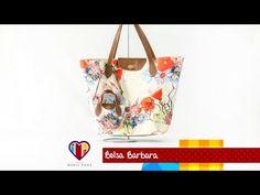 Bolsa sacola de tecido Bárbara - Maria Adna Ateliê - Vídeo de bolsa sacola passo a passo - YouTube