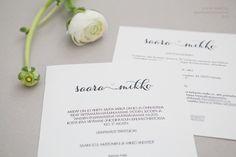 Hääkutsut » Makea Design // Graafinen suunnittelu / wedding invitation / Hääkutsu / kutsukortti