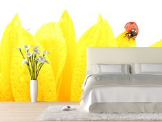 Eazywallz  - Ladybug on sunflower Wall Mural, $129.00 (http://www.eazywallz.com/ladybug-on-sunflower-wall-mural/)