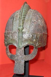 Another Vendel Era Helm (550-793).  Held at the Swedish Museum of National Antiquities.  Note the boar bristle crest...