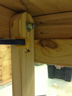 Fold Down Workbench Brackets | Once I did the same to the other side, I crawled out and took a look.