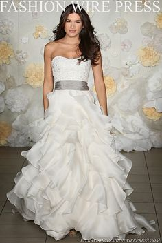 LOVE Jim Hjelm's style! I may just wear a wedding dress designed by him one day...