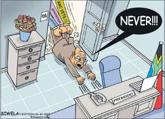 This classic Siwela cartoon has been doing the rounds again