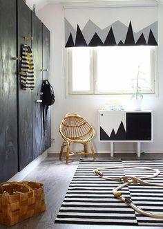 Geometrías en negro para la habitación del bebé Check more at http://decoracionbebes.com/geometrias-en-negro-para-la-habitacion-del-bebe/