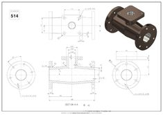 Mechanical Engineering Design, Mechanical Design, Autocad, Isometric Drawing Exercises, Cad 3d, 3d Cad Models, 3d Drawings, Drawing Practice, Technical Drawing