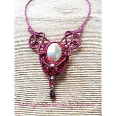 Macrame necklace https://www.facebook.com/Nostalgie-Handmade-by-Tatjana-425760884176858/