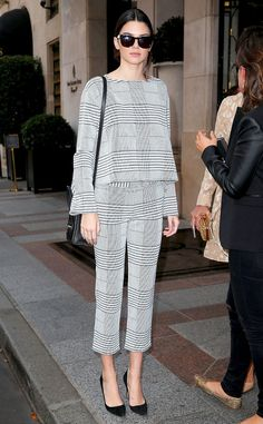 Kendall Jenner proves that sometimes matchy separates are a girl's best friend. (Click for more celeb street styles!)