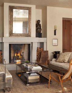 Global and RH furnishings | love their layout, warm and cozy.