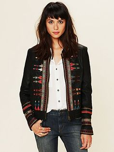 Embroidered Vegan Jacket from Freepeople