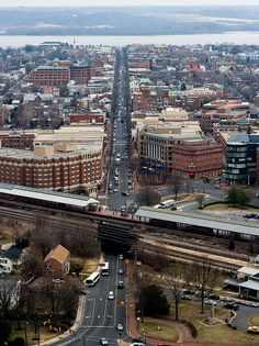 King St in Alexandria, VA, from the top of the George Washington Masonic National Memorial