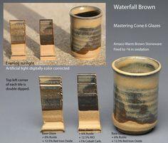 Waterfall Brown, Rutile, RIO, Cobalt Carb.